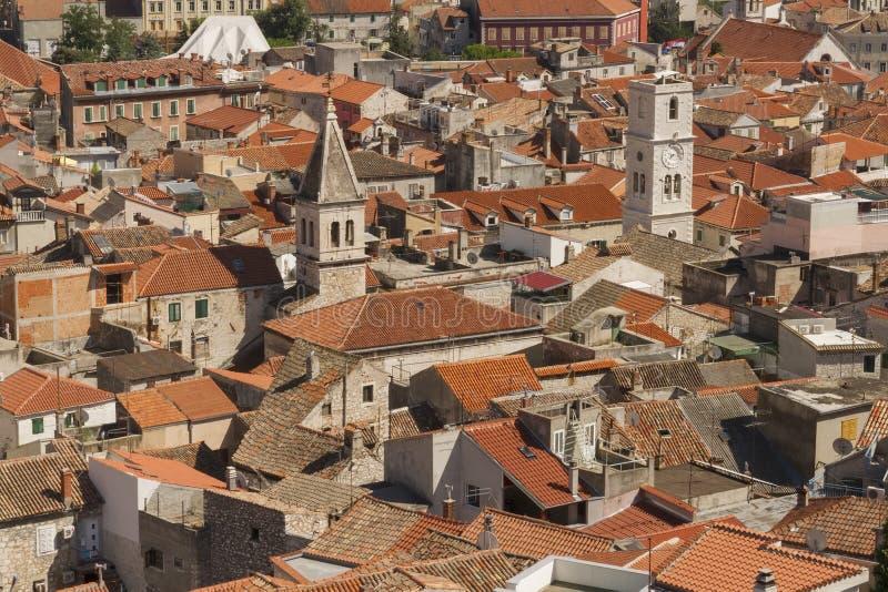 Городок Sibenik стоковое изображение rf