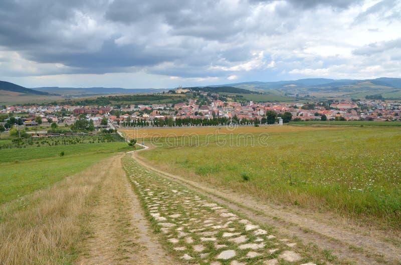 Городок Spisske Podhradie в Словакии стоковое фото