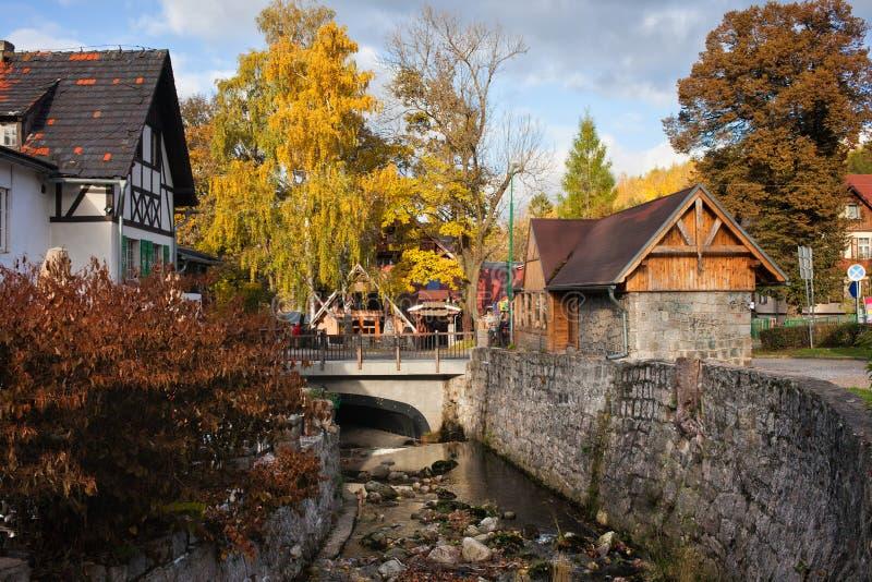 Городок Szklarska Poreba в Польше стоковая фотография rf