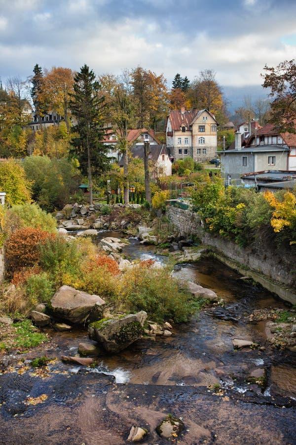 Городок Szklarska Poreba в Польше стоковые изображения rf