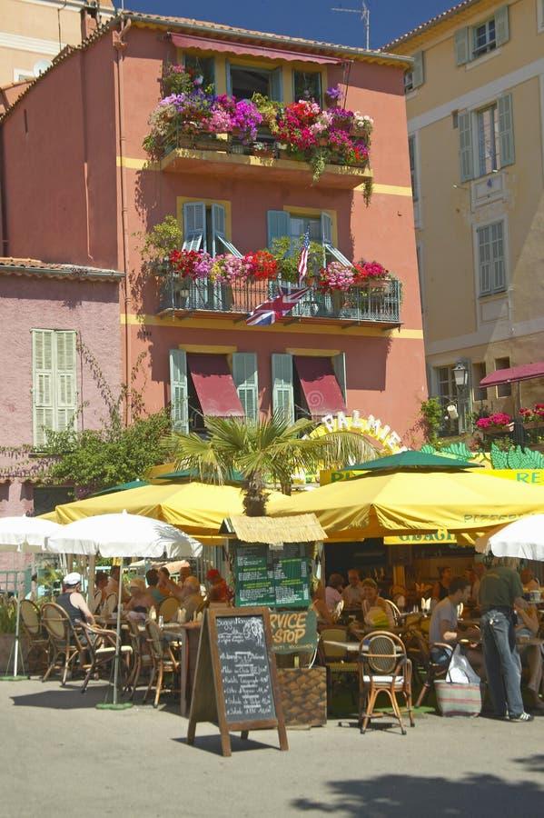 Городок Villefranche-sur-Mer, французской ривьеры, Франции стоковые изображения rf