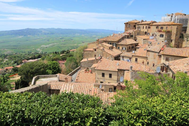 Городок Volterra средневековый стоковая фотография rf