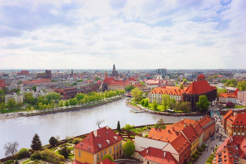 Городок Wroclaw старый стоковые фотографии rf