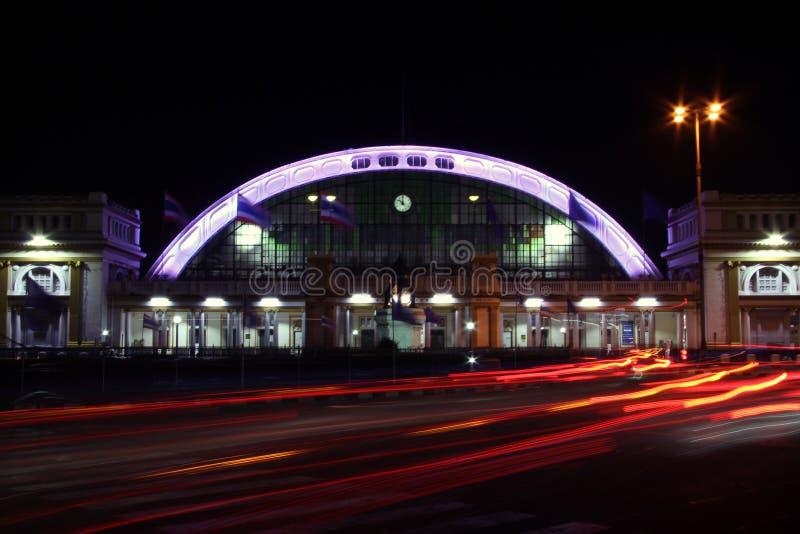 Город освещения движения стоковое фото rf