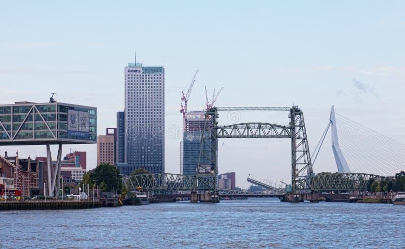 Город осматривает Роттердам стоковое изображение rf