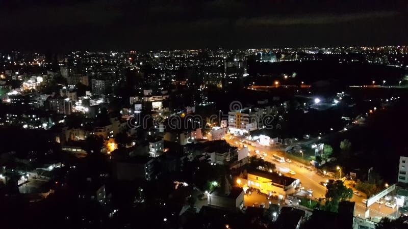 Город от горы стоковое фото