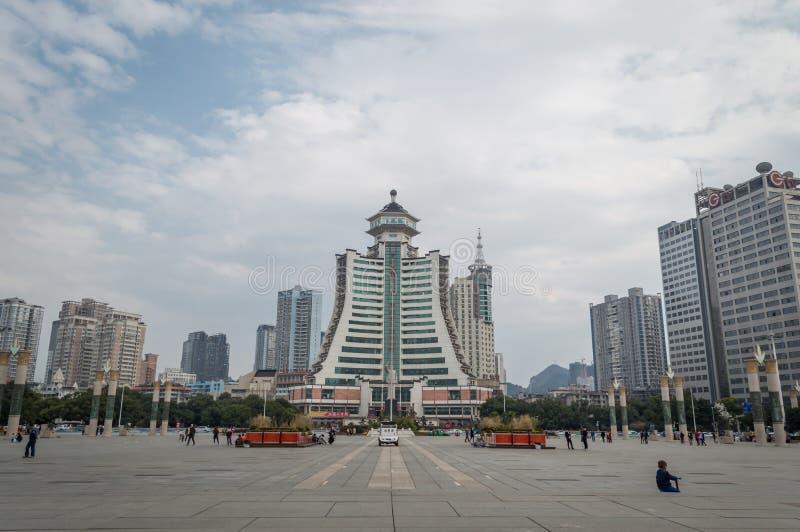 Город пейзажа guiyang стоковое изображение