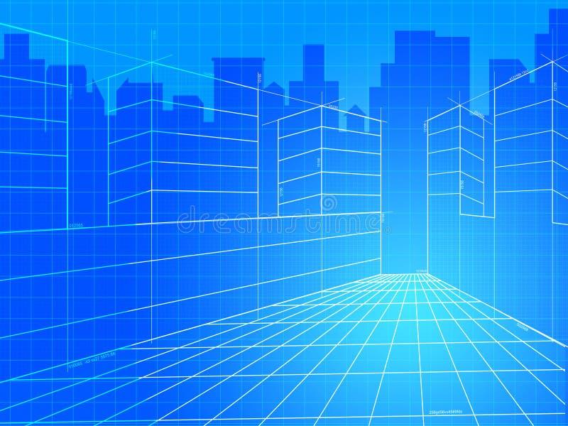 Город Предпосылка Значить Коммерчески Предпосылки и Корпорация иллюстрация вектора