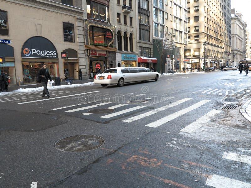 город пятое New York бульвара стоковое изображение rf