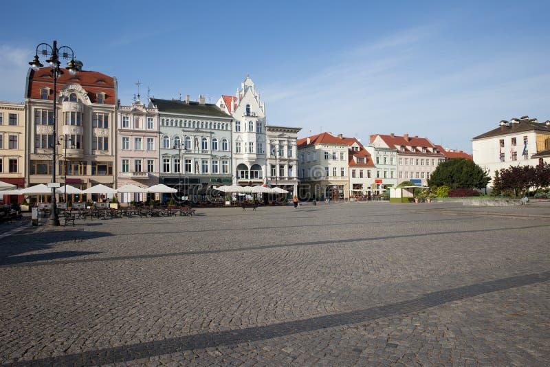 Город рыночной площади городка Bydgoszcz старой стоковая фотография rf