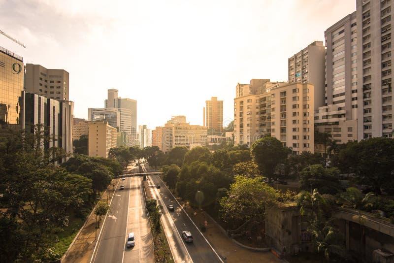Город Сан-Паулу городской стоковые фотографии rf