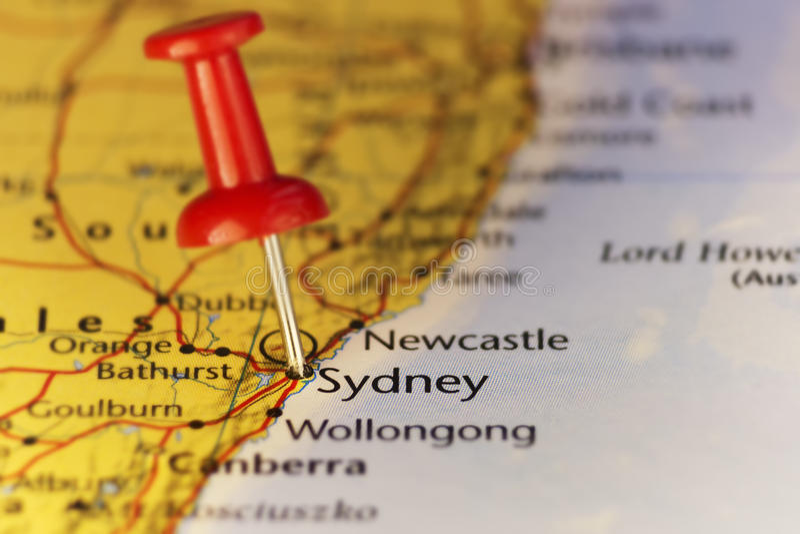 Город Сиднея самый большой в Австралии, карте бесплатная иллюстрация