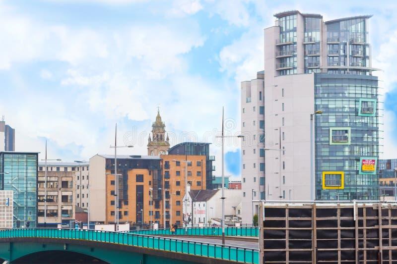 Городская жизнь в Белфасте, Северной Ирландии стоковые фотографии rf