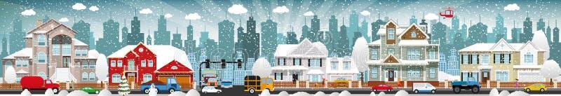 Городская жизнь (зима) бесплатная иллюстрация