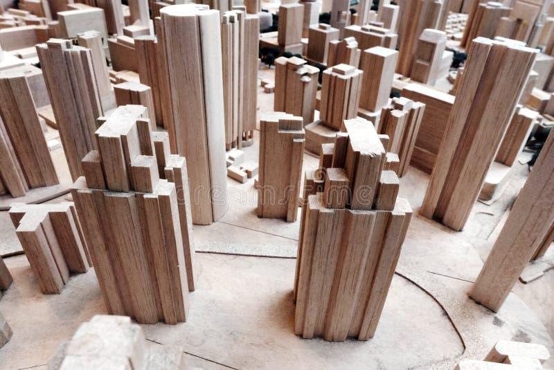 Городская модель планирования района города стоковое фото rf
