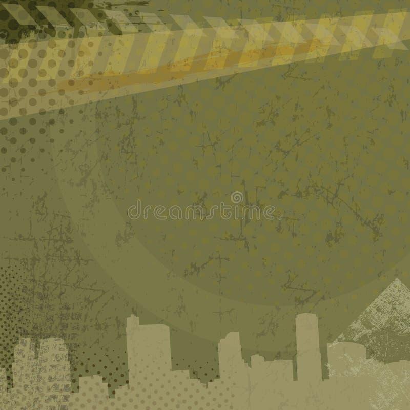 Городская предпосылка grunge, иллюстрация штока
