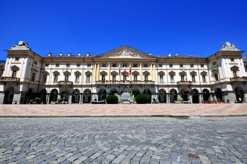 Городская площадь Аосты стоковое изображение rf