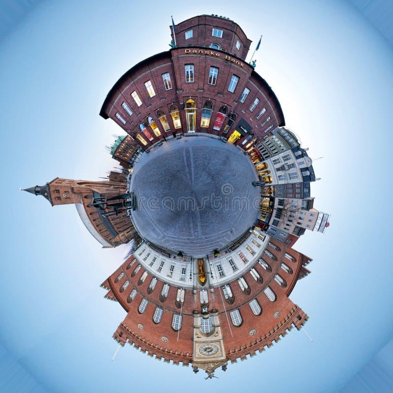 Городская площадь Оденсе стоковые изображения rf