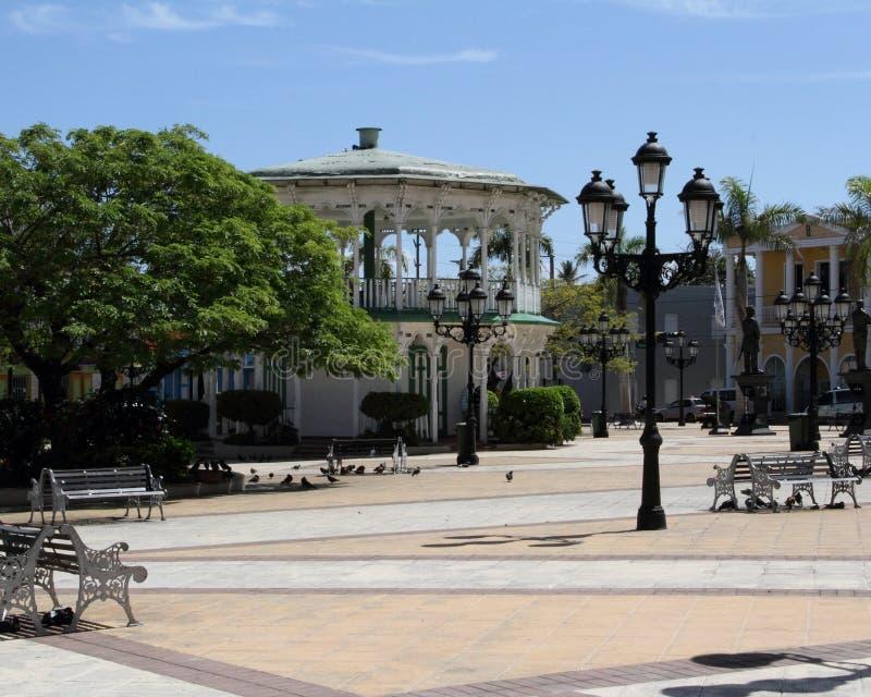 Городская площадь Puerto Plata стоковое фото