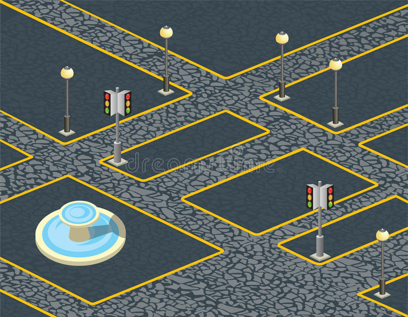 Городские булыжники иллюстрация штока