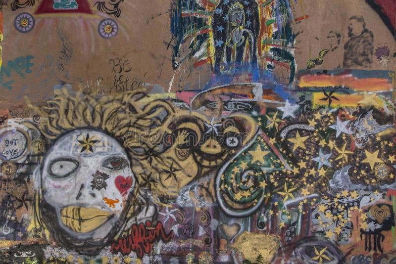 Городские граффити в Bisbee Аризоне стоковое фото rf