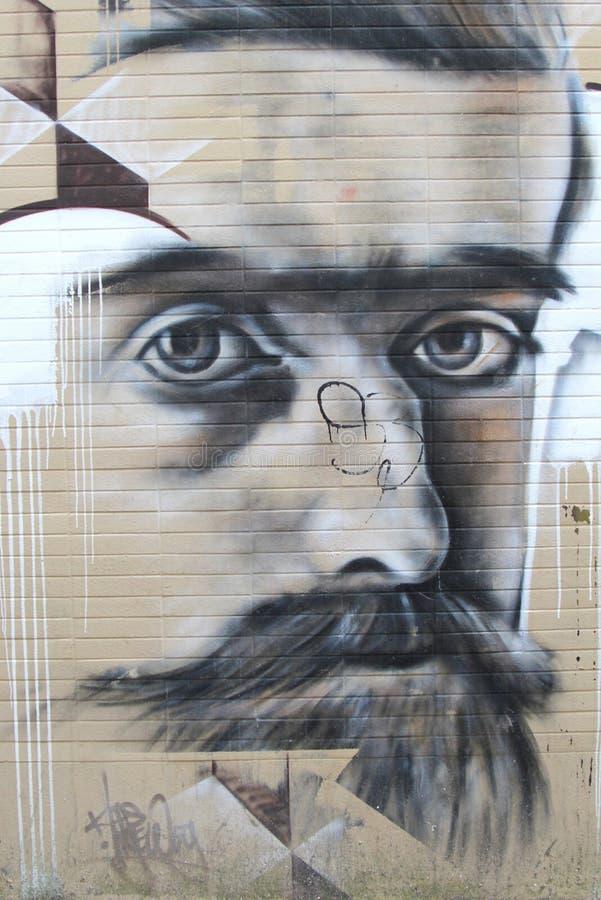 Городские граффити искусства улицы в Leeuwarden, Нидерландах стоковые изображения rf