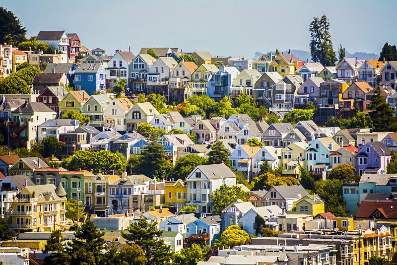 Городские деревни в Сан-Франциско стоковая фотография