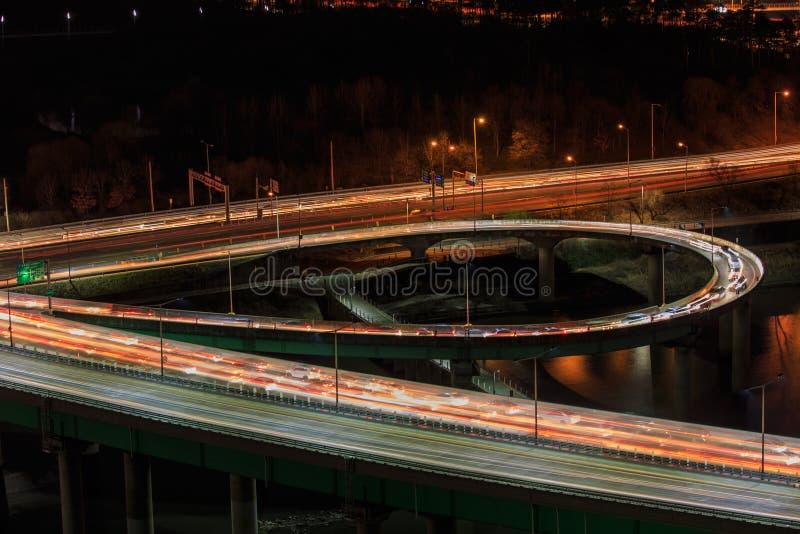 Городские пейзажи взгляда сценарные на Южной Корее Сеула стоковая фотография