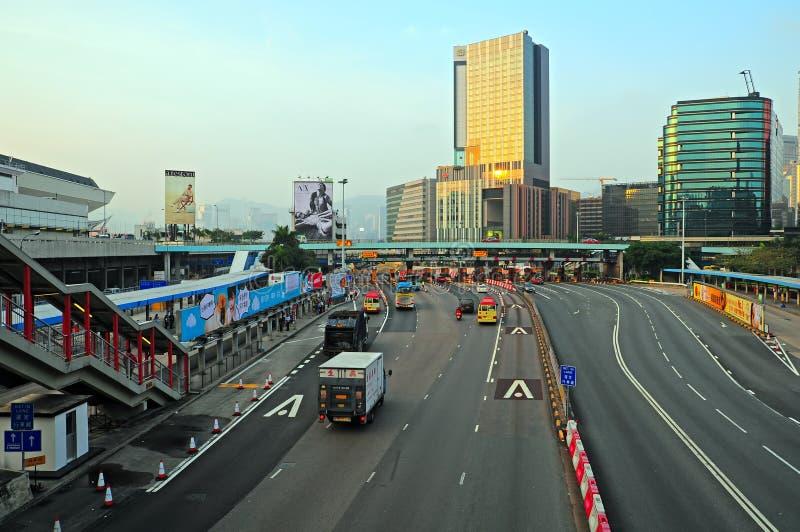 Городское движение в kowloon, Гонконге стоковые изображения