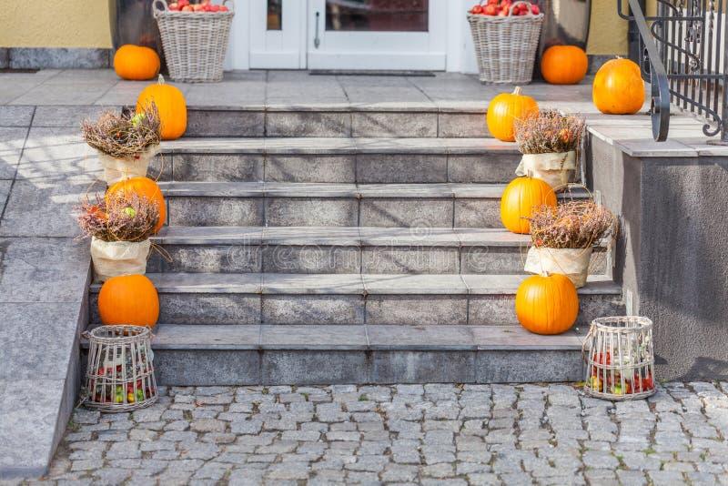 Городское оформление на хеллоуин стоковое фото