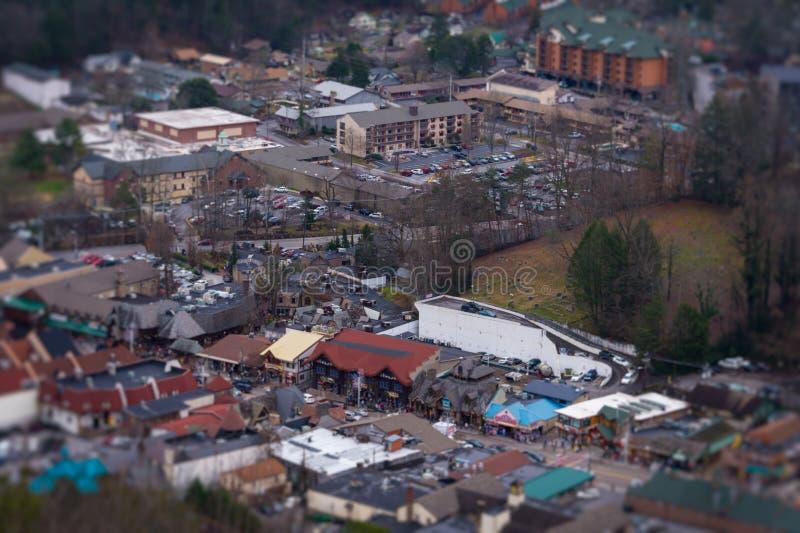 Городское Gatlinburg стоковые фотографии rf