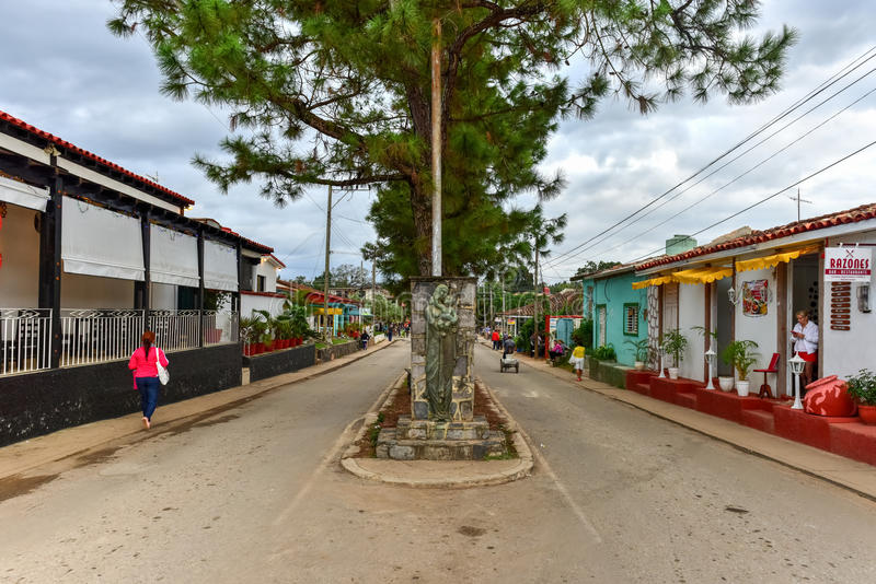 Городское Vinales, Куба стоковая фотография