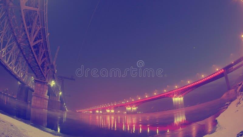 Городской ландшафт, мост дороги стоковые изображения