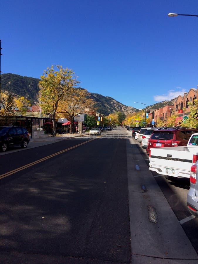 Городской Больдэр Колорадо стоковые изображения