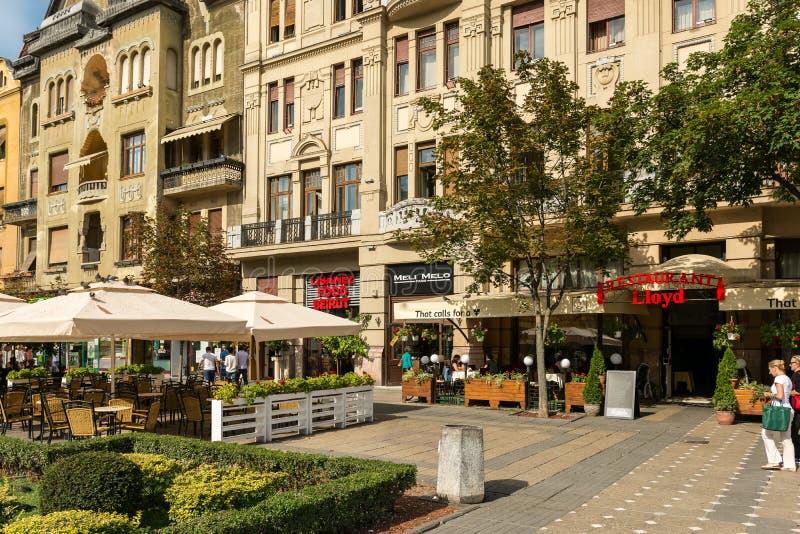 Городской взгляд исторического центра города Timisoara стоковая фотография