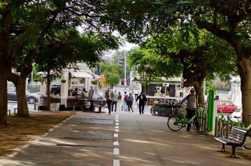 Городской взгляд Тель-Авив стоковое изображение