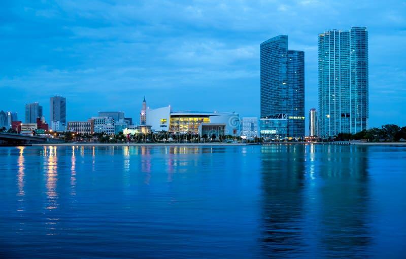 Городской горизонт Майами стоковое изображение