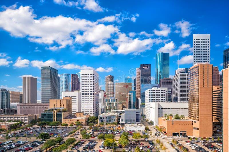 Городской горизонт Хьюстона стоковая фотография rf