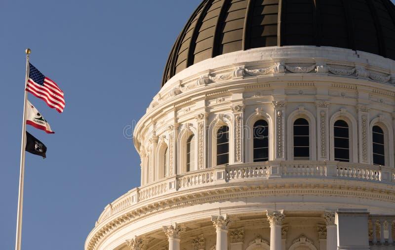Городской город Skylin здания купола Сакраменто Калифорнии прописной стоковые фото
