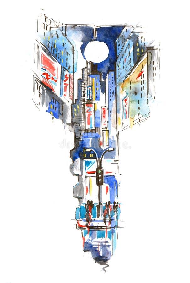 Городской график бесплатная иллюстрация