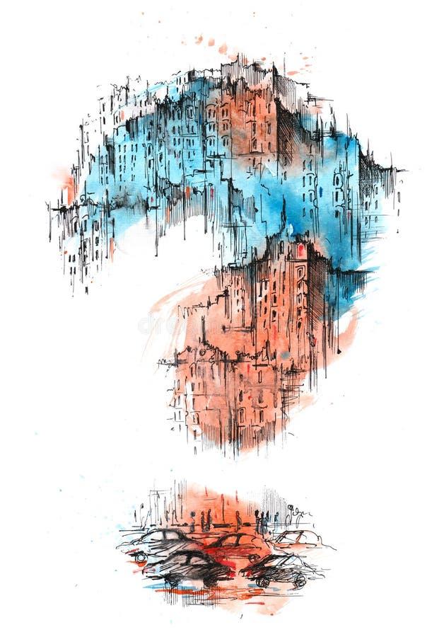 Городской график иллюстрация вектора