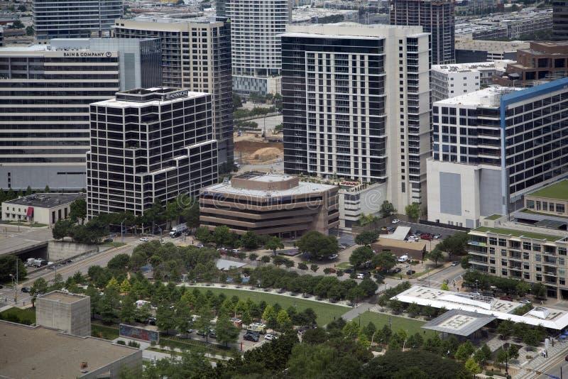 Городской Даллас видел от небоскребов стоковые фотографии rf