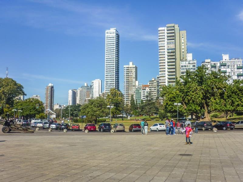 Городской квадрат в городе Аргентине Rosario стоковые фотографии rf