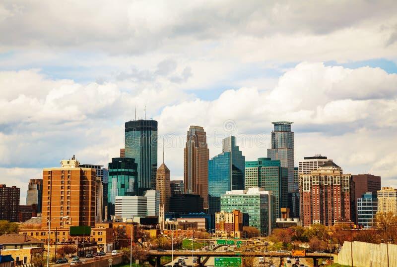 Городской Миннеаполис, Минесота стоковые фотографии rf