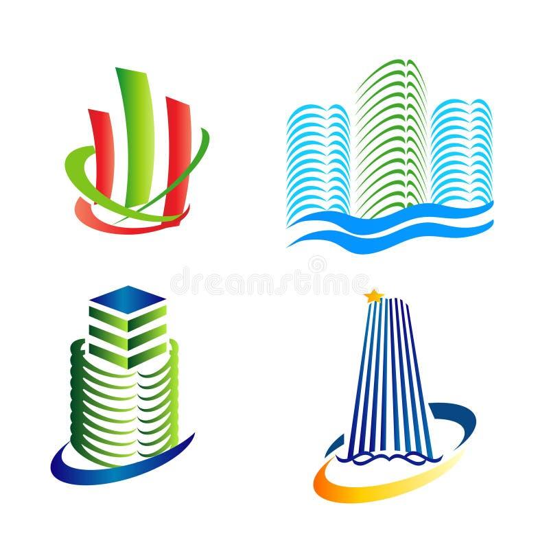Городской логотип значков иллюстрация штока