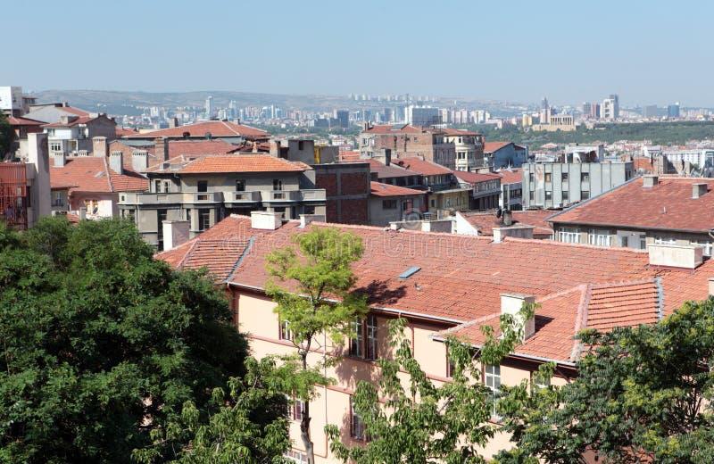 Городской пейзаж Анкары, Турции стоковая фотография