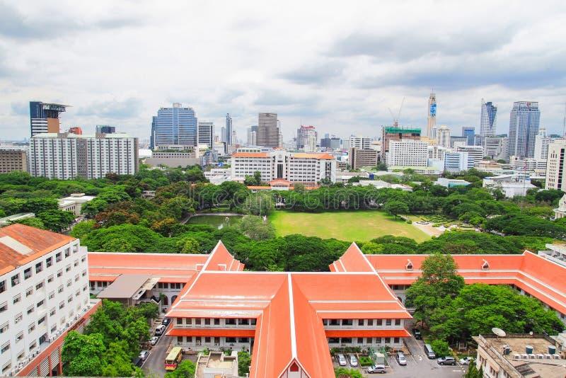 Городской пейзаж Бангкока стоковые изображения