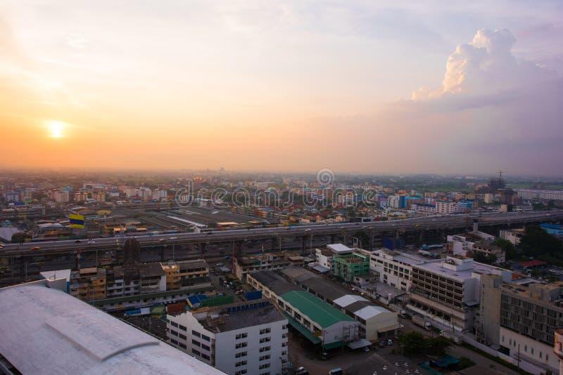 Городской пейзаж Бангкока Rangsit Таиланда стоковые фотографии rf