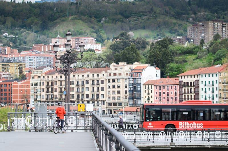 Городской пейзаж Бильбао стоковые изображения