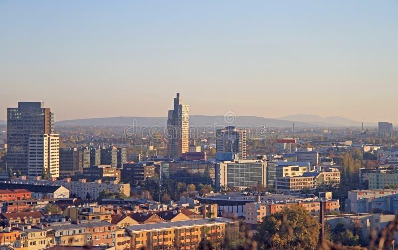 Городской пейзаж Брна, город secong самый большой в чехе стоковое фото